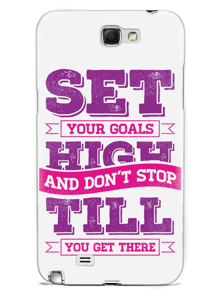 Set Your Goals High, Don't Stop - White Case - pipercleo.com