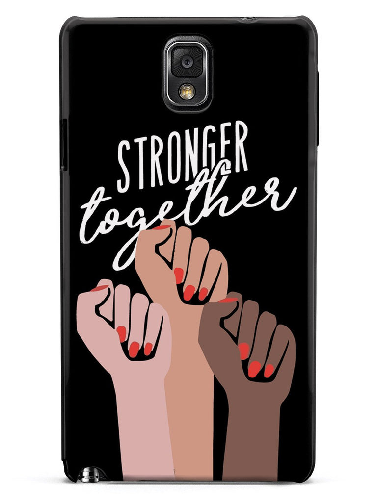 Stronger Together - Women's March Solidarity - Black Case - pipercleo.com