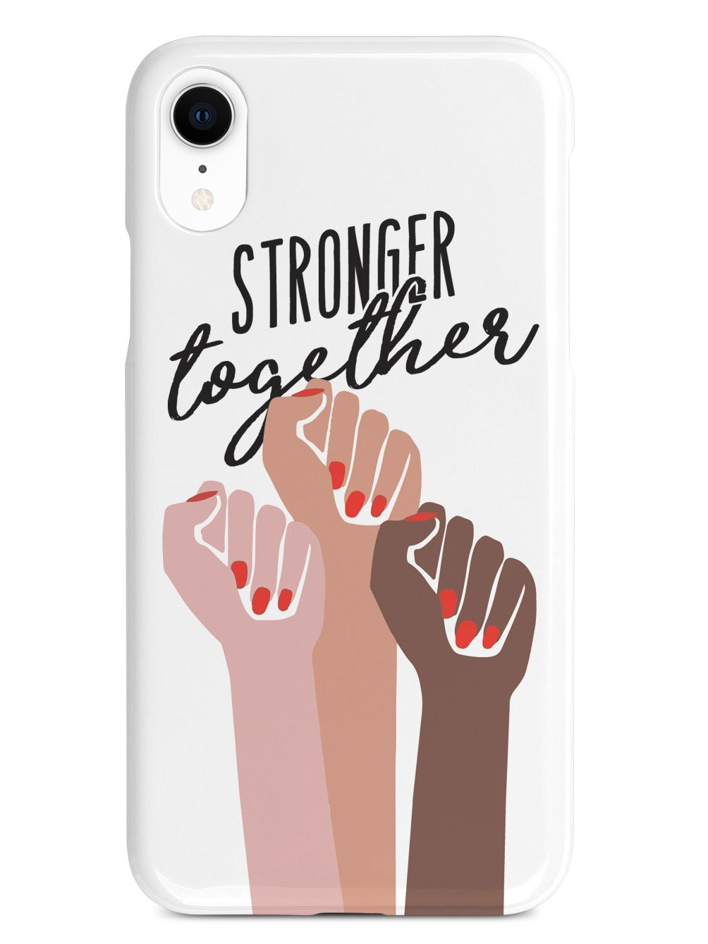 Stronger Together - Women's March Solidarity - White Case - pipercleo.com