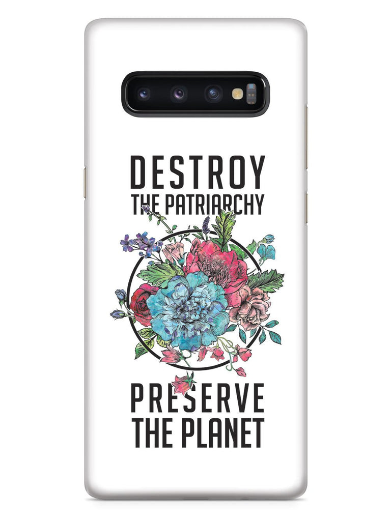 Destroy the Patriarchy Preserve the Planet - White Case - pipercleo.com