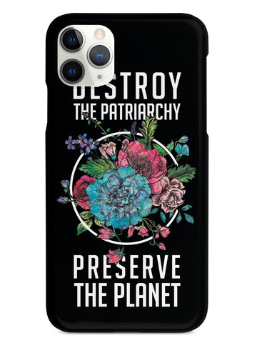 Destroy the Patriarchy Preserve the Planet - Black Case - pipercleo.com