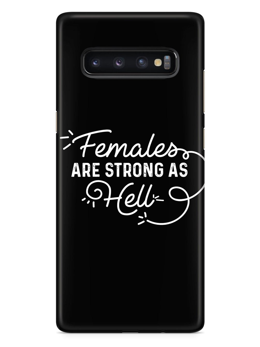 Females Are Strong As Hell - Black Case - pipercleo.com