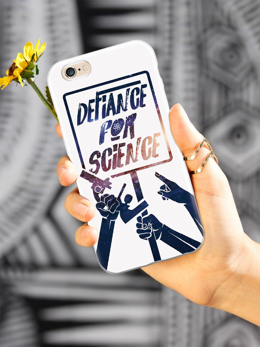 Defiance For Science - Space Background - White Case - pipercleo.com