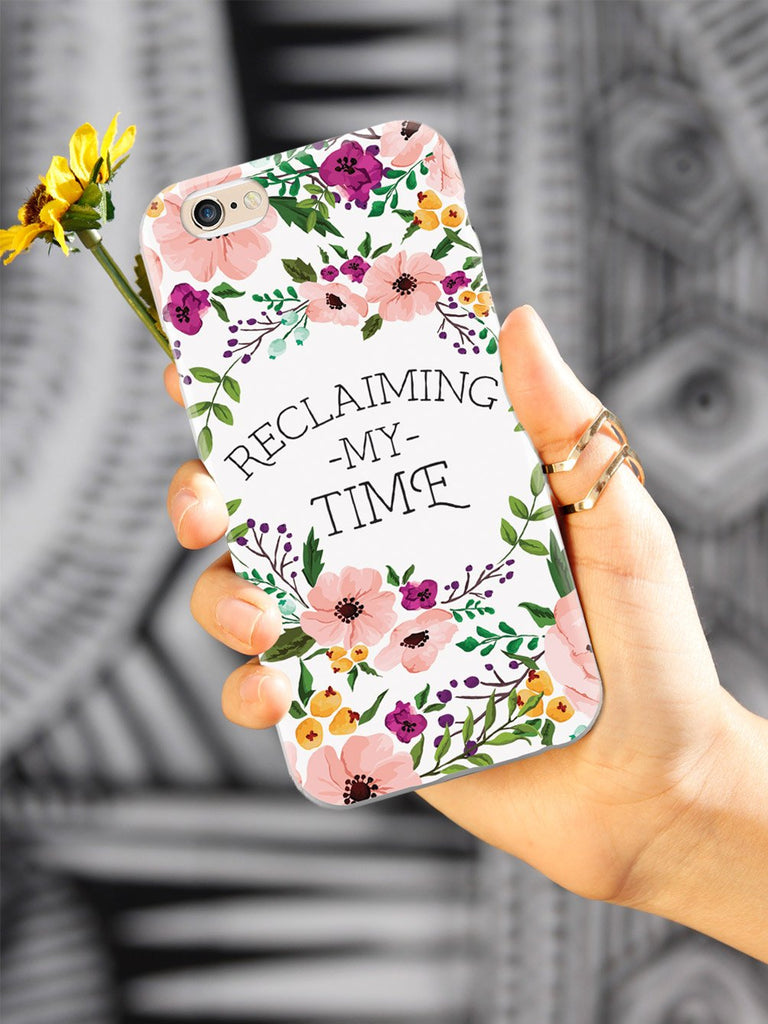 Reclaiming My Time - Flower Wreathe - White Case - pipercleo.com
