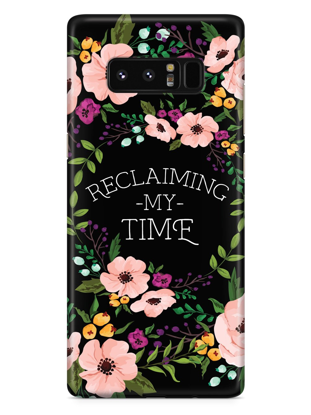 Reclaiming My Time - Flower Wreathe - Black Case - pipercleo.com