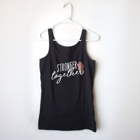 Stronger Together Ladies' Black Tank