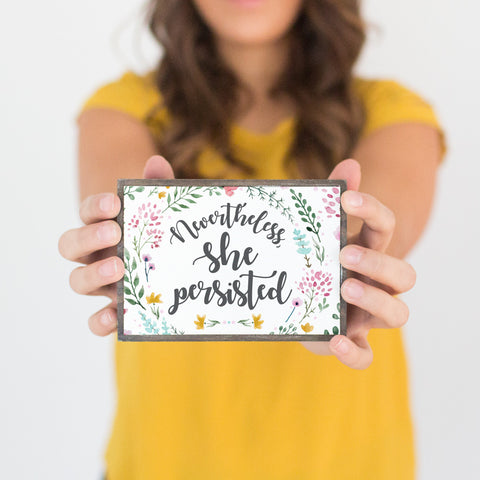Nevertheless She Persisted Table Top Box