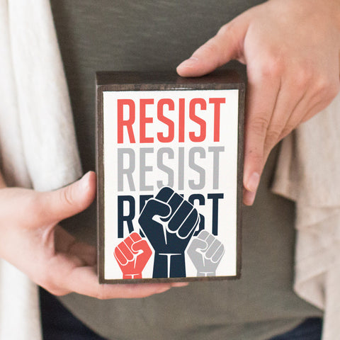 Keep Resisting Table Top Box - pipercleo.com