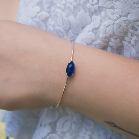 True Blue Silver Bangle