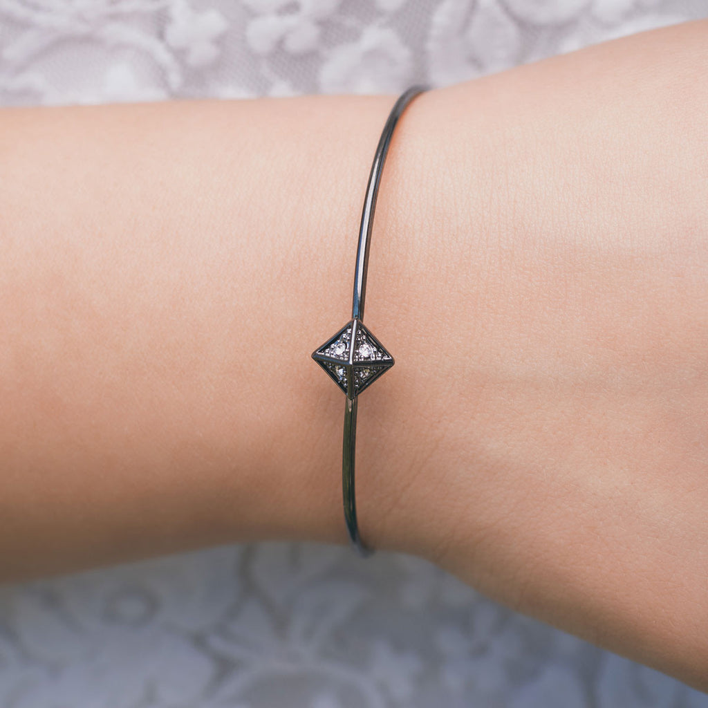 Black Pyramid Bangle