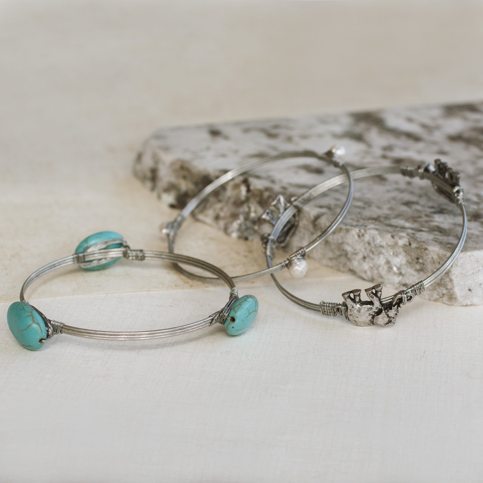 Elephants on Parade Silver Bangle Set - pipercleo.com