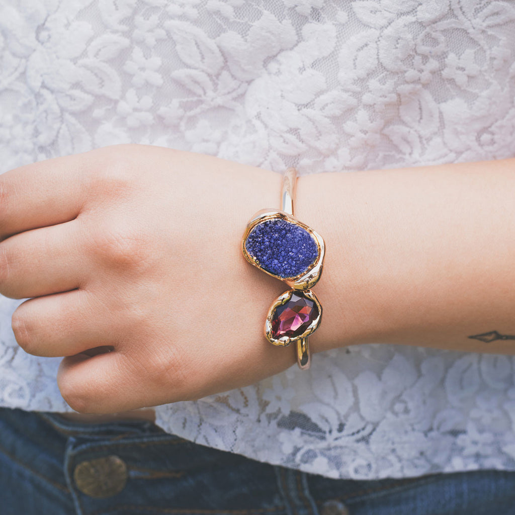 Blue Moon Gold Cuff - pipercleo.com