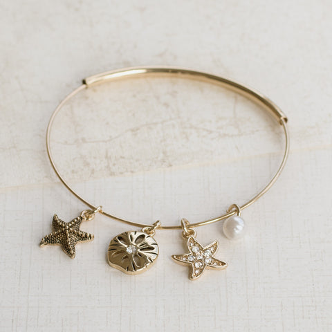 By the Sea Gold Bangle - pipercleo.com