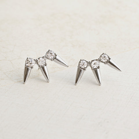 Spikes in Silver Earrings - pipercleo.com