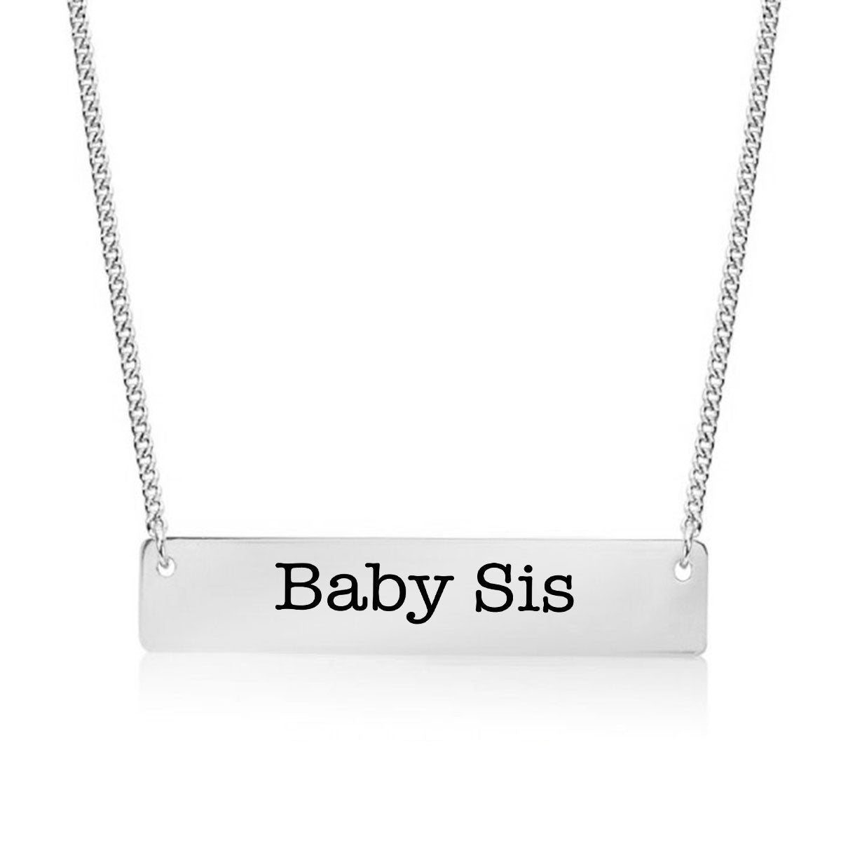 Baby Sister Gold / Silver Bar Necklace - Sister Gifts - pipercleo.com