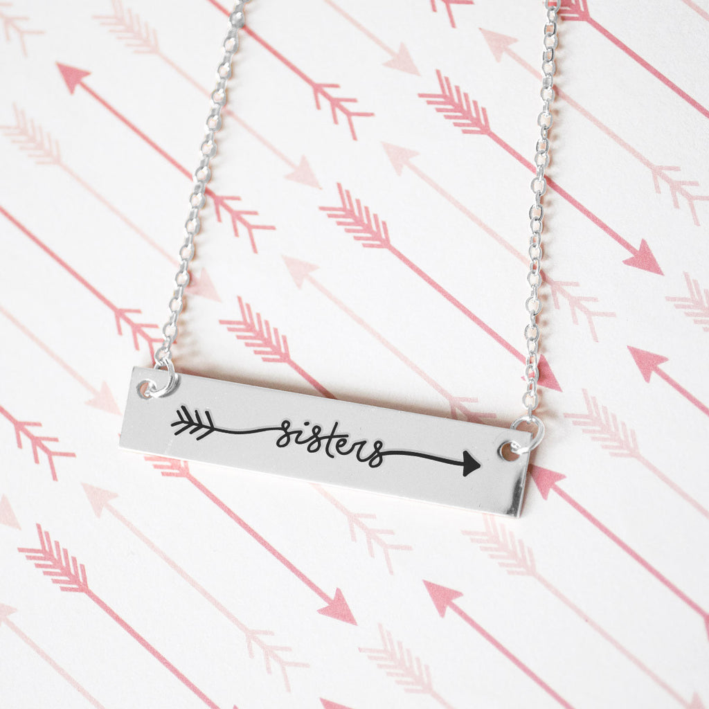 My Sister Gold / Silver Bar Necklace - Sister Gifts
