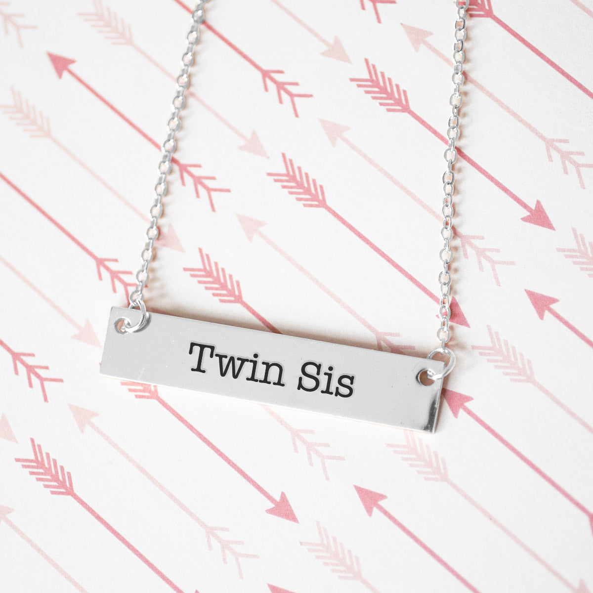 Twin Sister Gold / Silver Bar Necklace - Sister Gifts