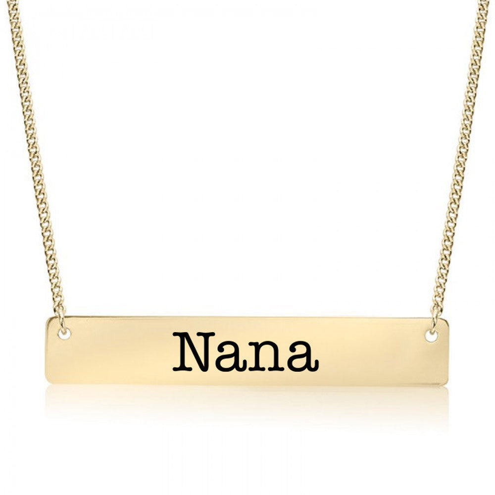 Nana Gold / Silver Bar Necklace - pipercleo.com