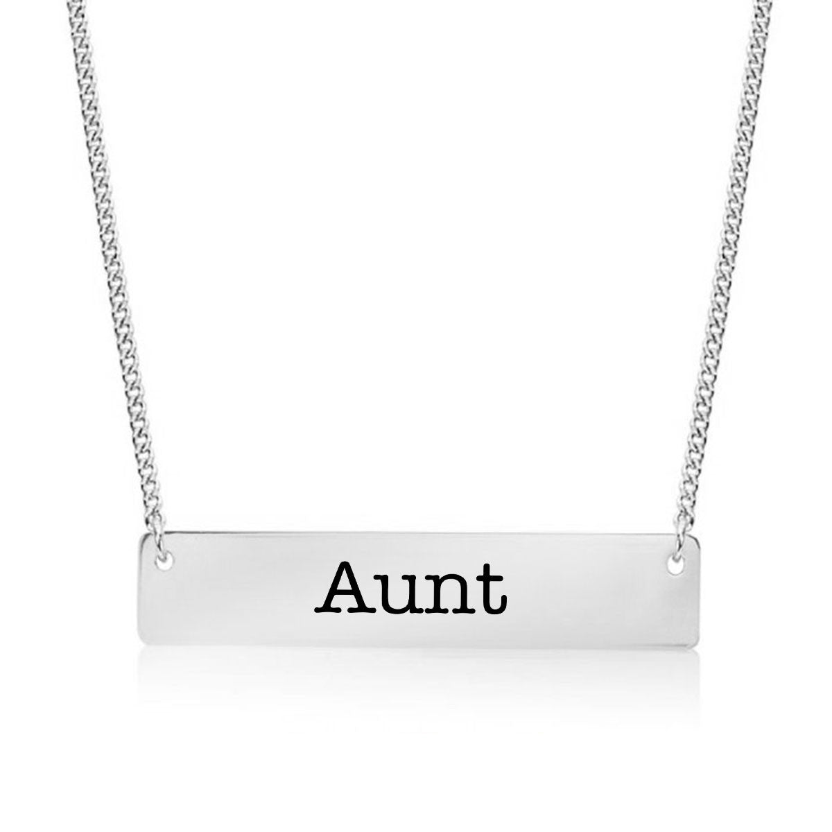 Aunt Gold / Silver Bar Necklace - pipercleo.com