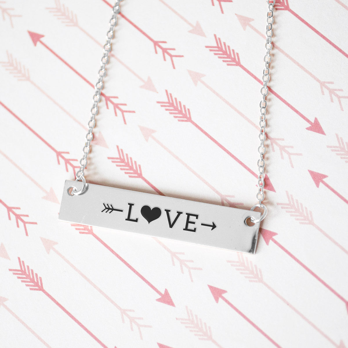 Sweet Love Gold / Silver Bar Necklace - pipercleo.com