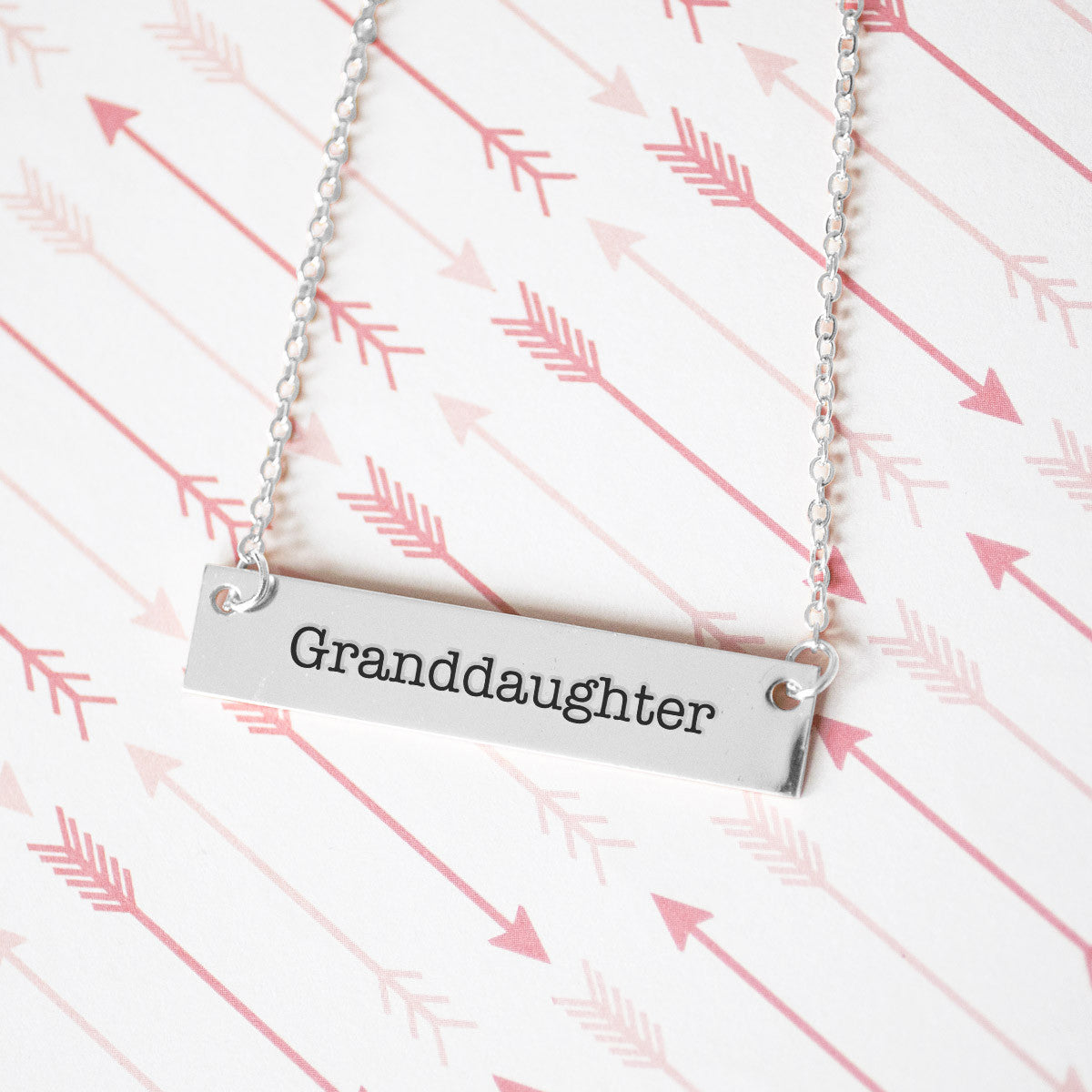 Granddaughter Gold / Silver Bar Necklace - pipercleo.com