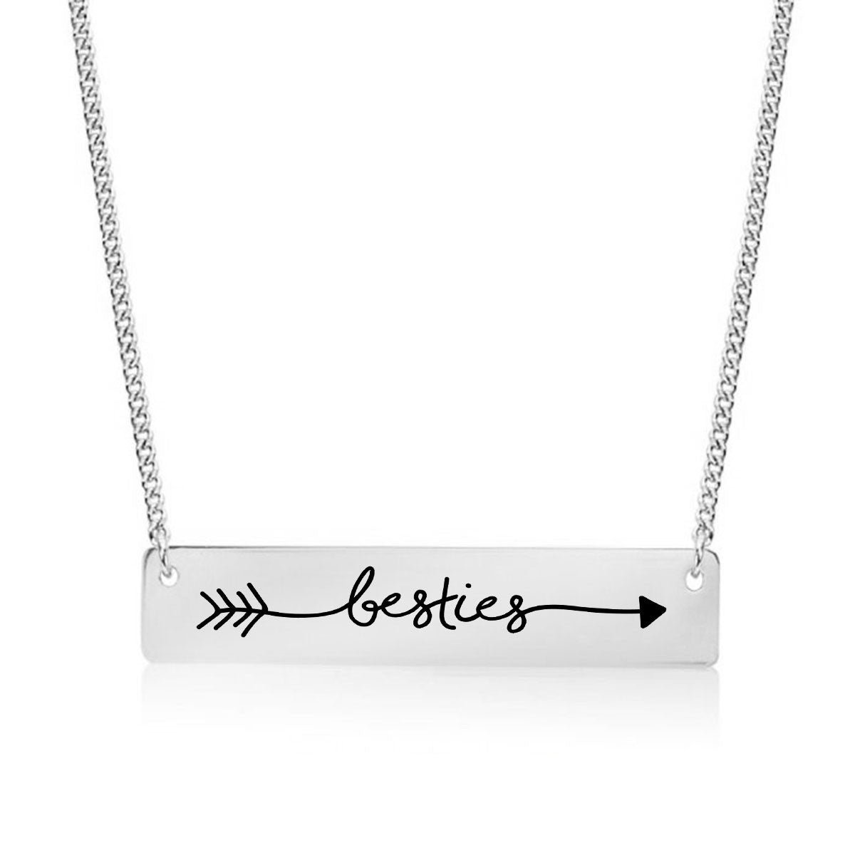 Best Friends Forever Gold / Silver Bar Necklace - pipercleo.com