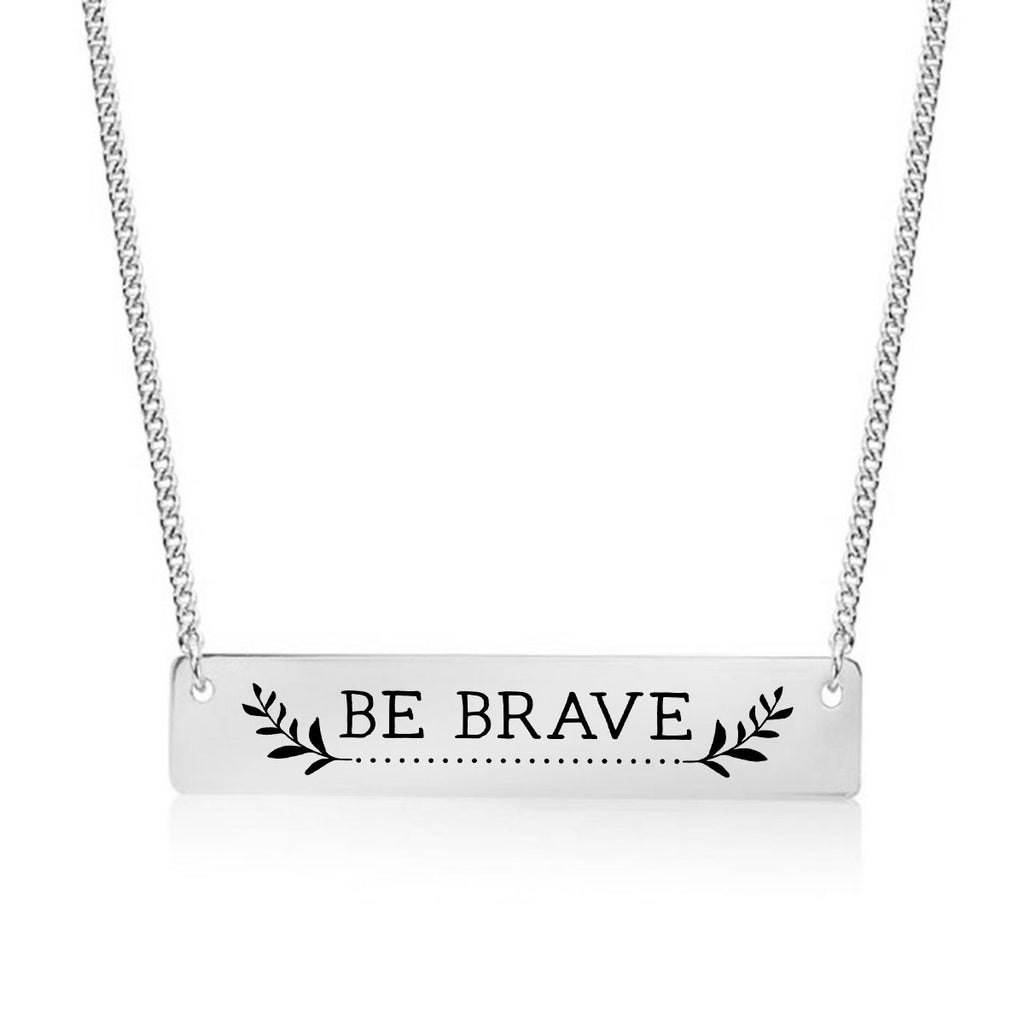Be Brave Gold / Silver Bar Necklace - pipercleo.com