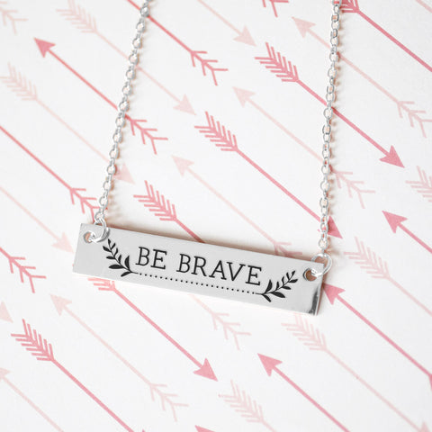 Be Brave Gold / Silver Bar Necklace