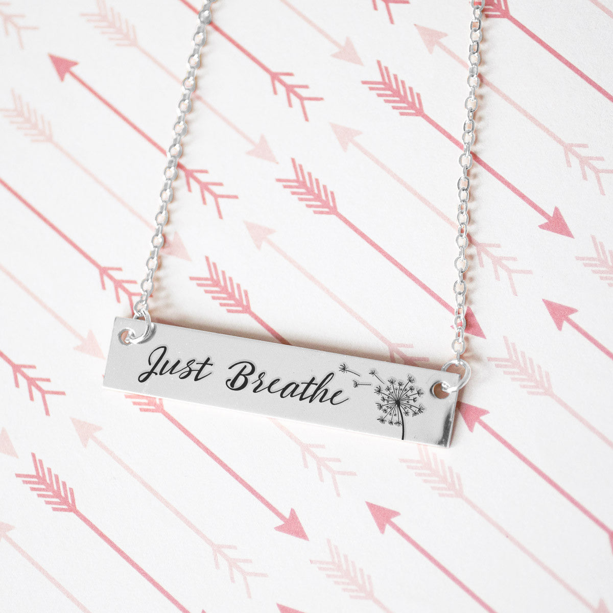 Just Breathe Gold / Silver Bar Necklace - pipercleo.com