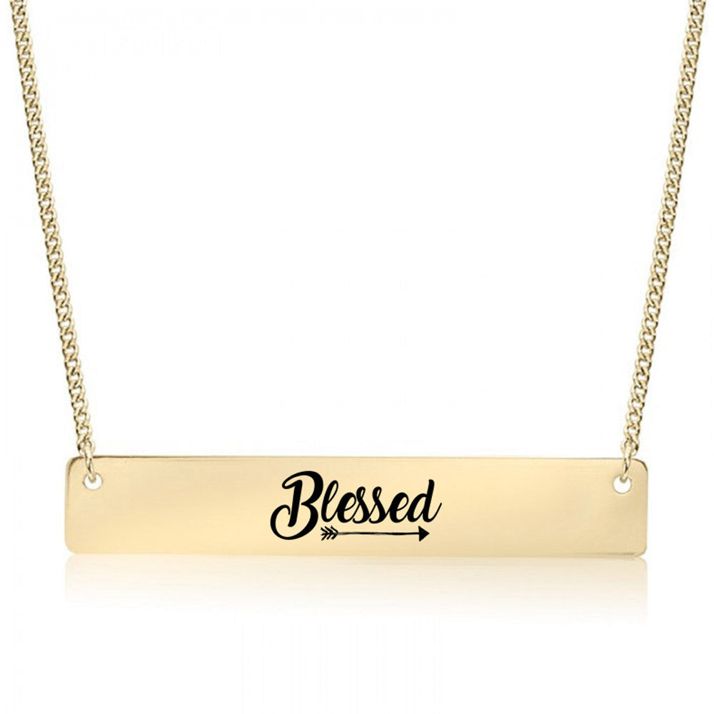 Blessed Arrow Gold / Silver Bar Necklace