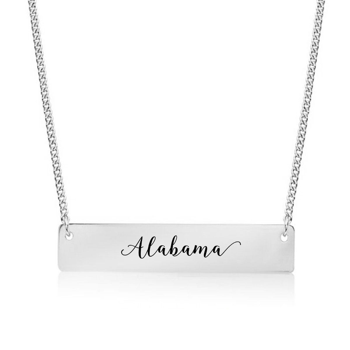 Alabama Gold / Silver Bar Necklace - pipercleo.com