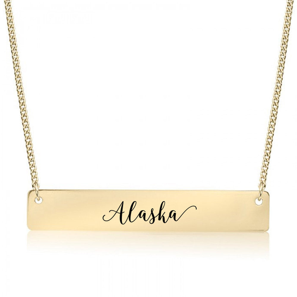 Alaska Gold / Silver Bar Necklace - pipercleo.com