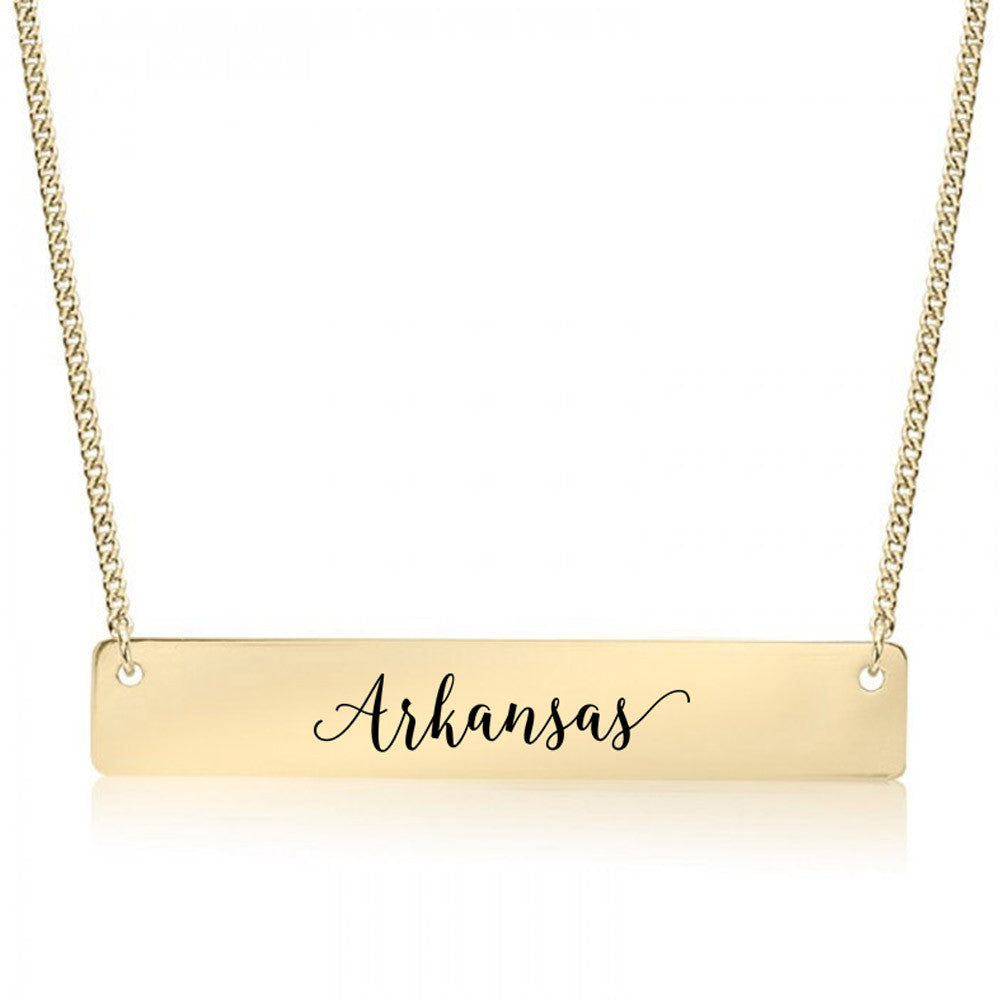 Arkansas Gold / Silver Bar Necklace - pipercleo.com