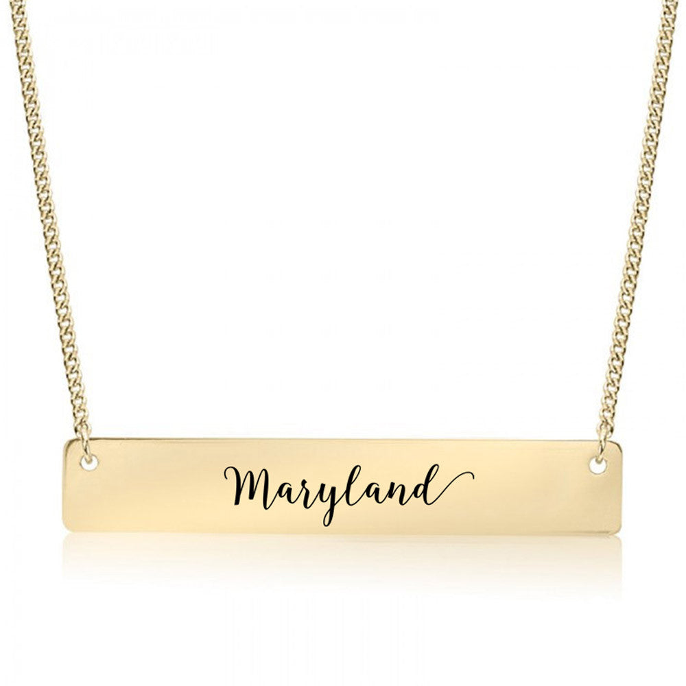 Maryland Gold / Silver Bar Necklace - pipercleo.com