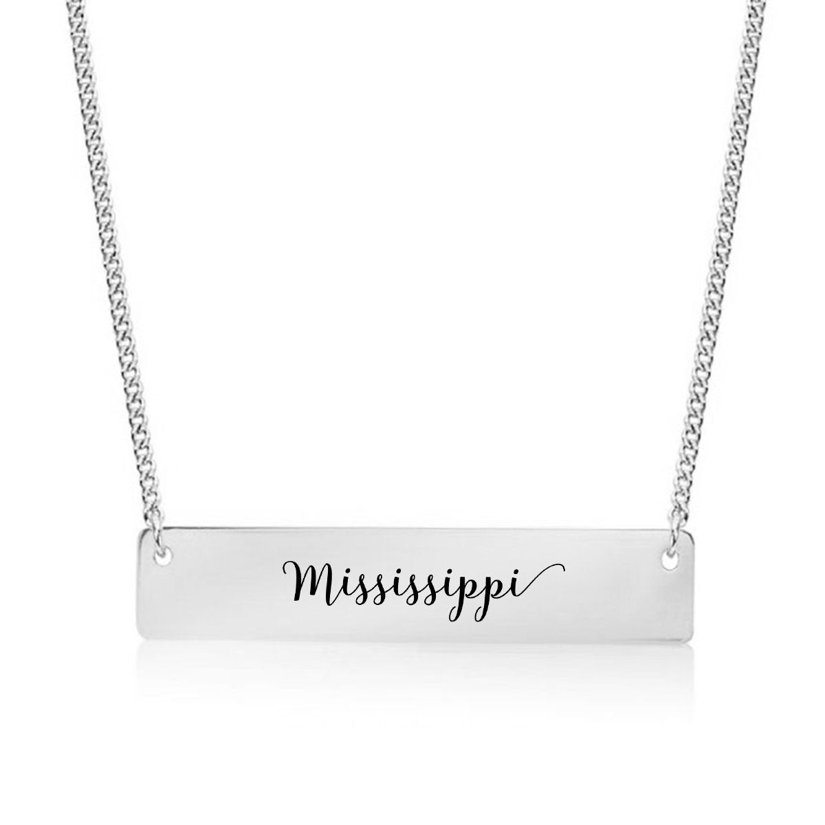Mississippi Gold / Silver Bar Necklace - pipercleo.com