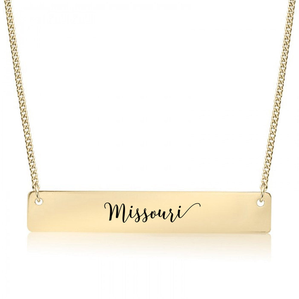 Missouri Gold / Silver Bar Necklace