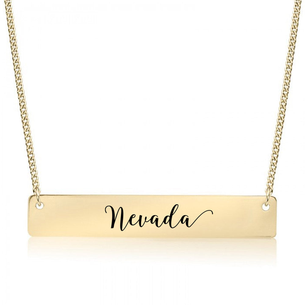 Nevada Gold / Silver Bar Necklace - pipercleo.com