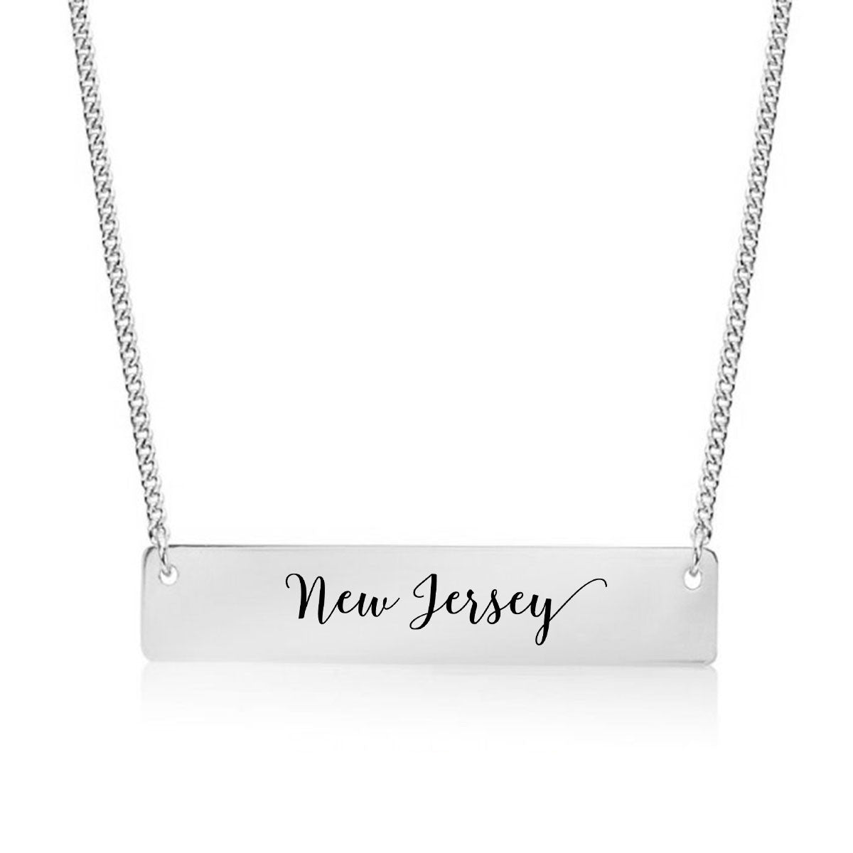 New Jersey Gold / Silver Bar Necklace - pipercleo.com
