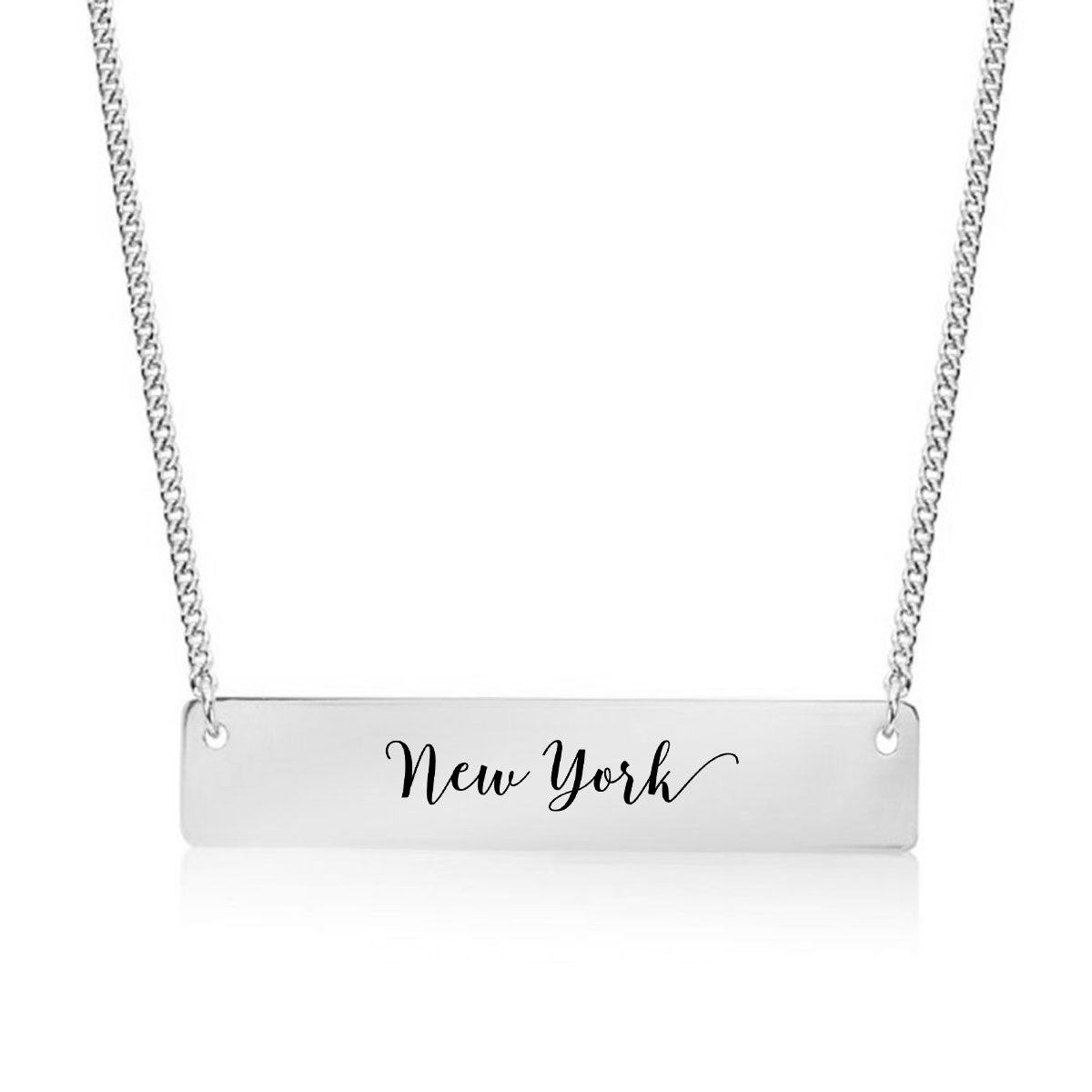 New York Gold / Silver Bar Necklace