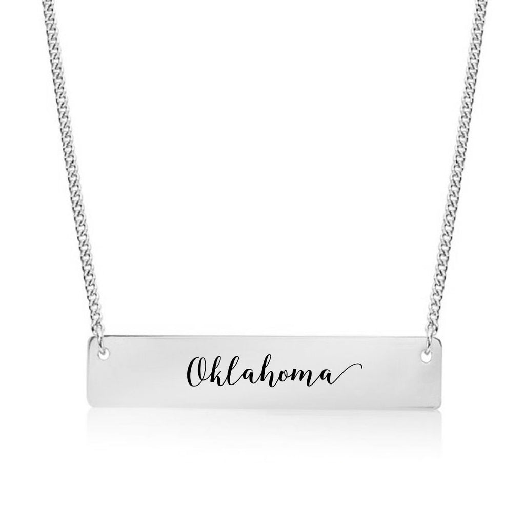 Oklahoma Gold / Silver Bar Necklace
