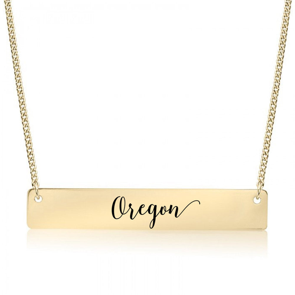 Oregon Gold / Silver Bar Necklace