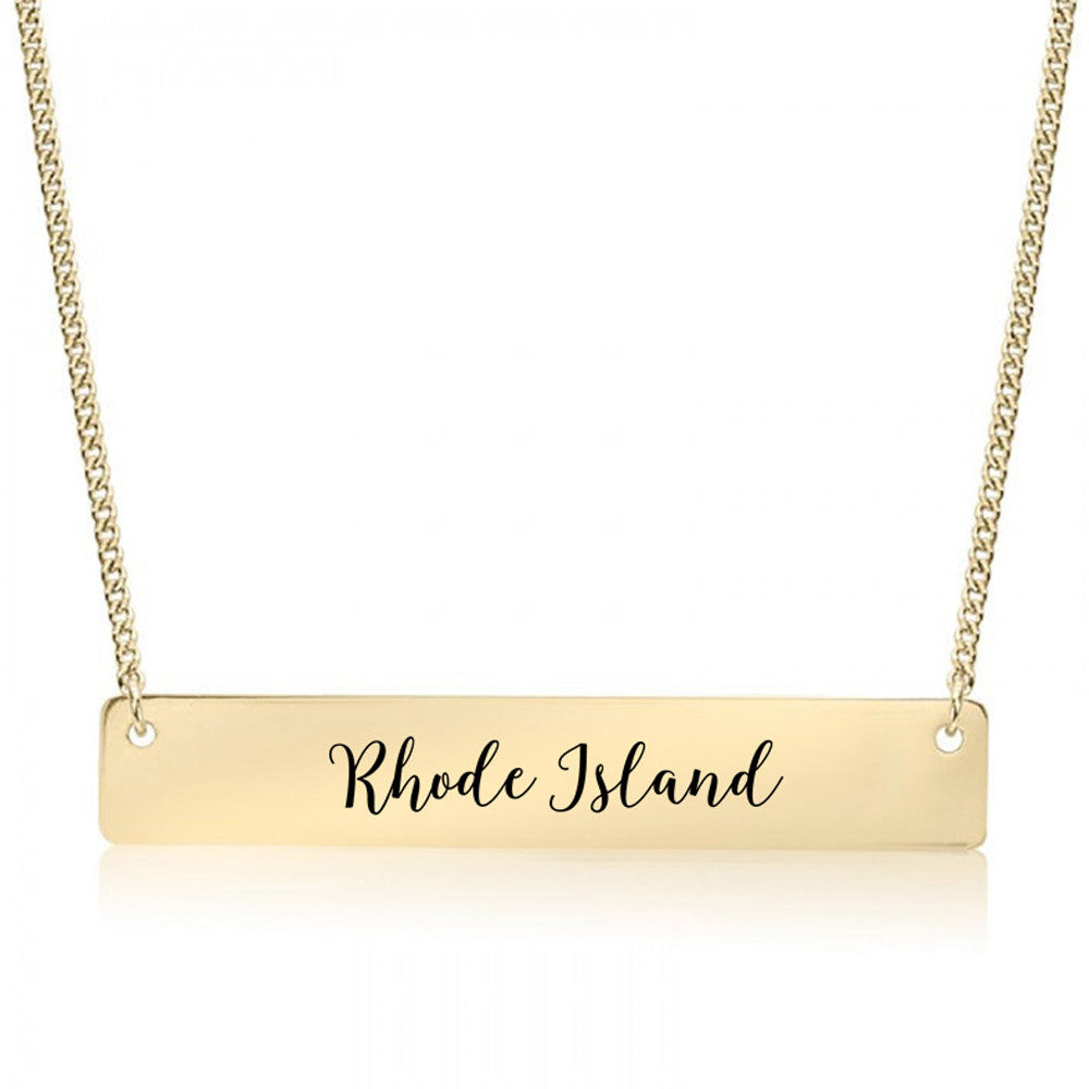 Rhode Island Gold / Silver Bar Necklace
