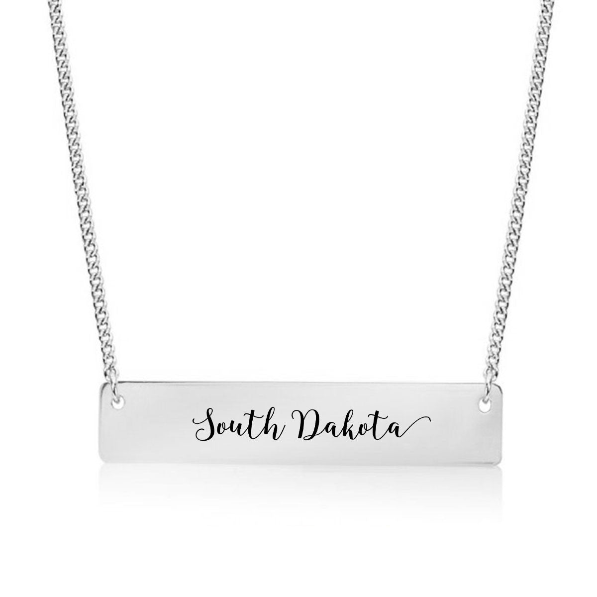South Dakota Gold / Silver Bar Necklace