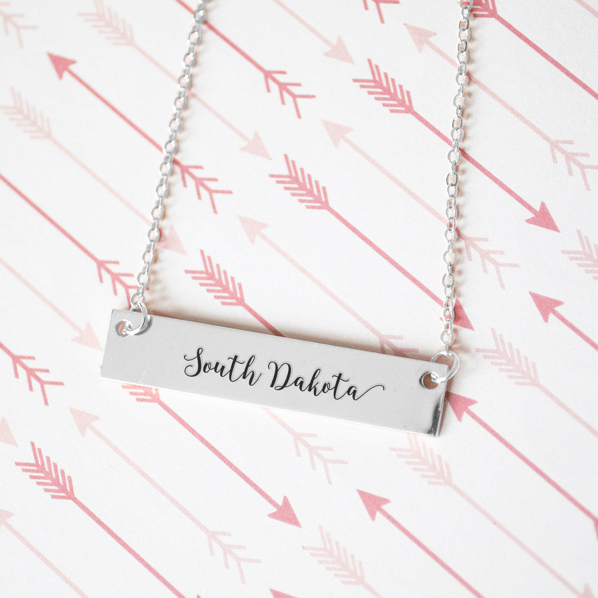 South Dakota Gold / Silver Bar Necklace - pipercleo.com