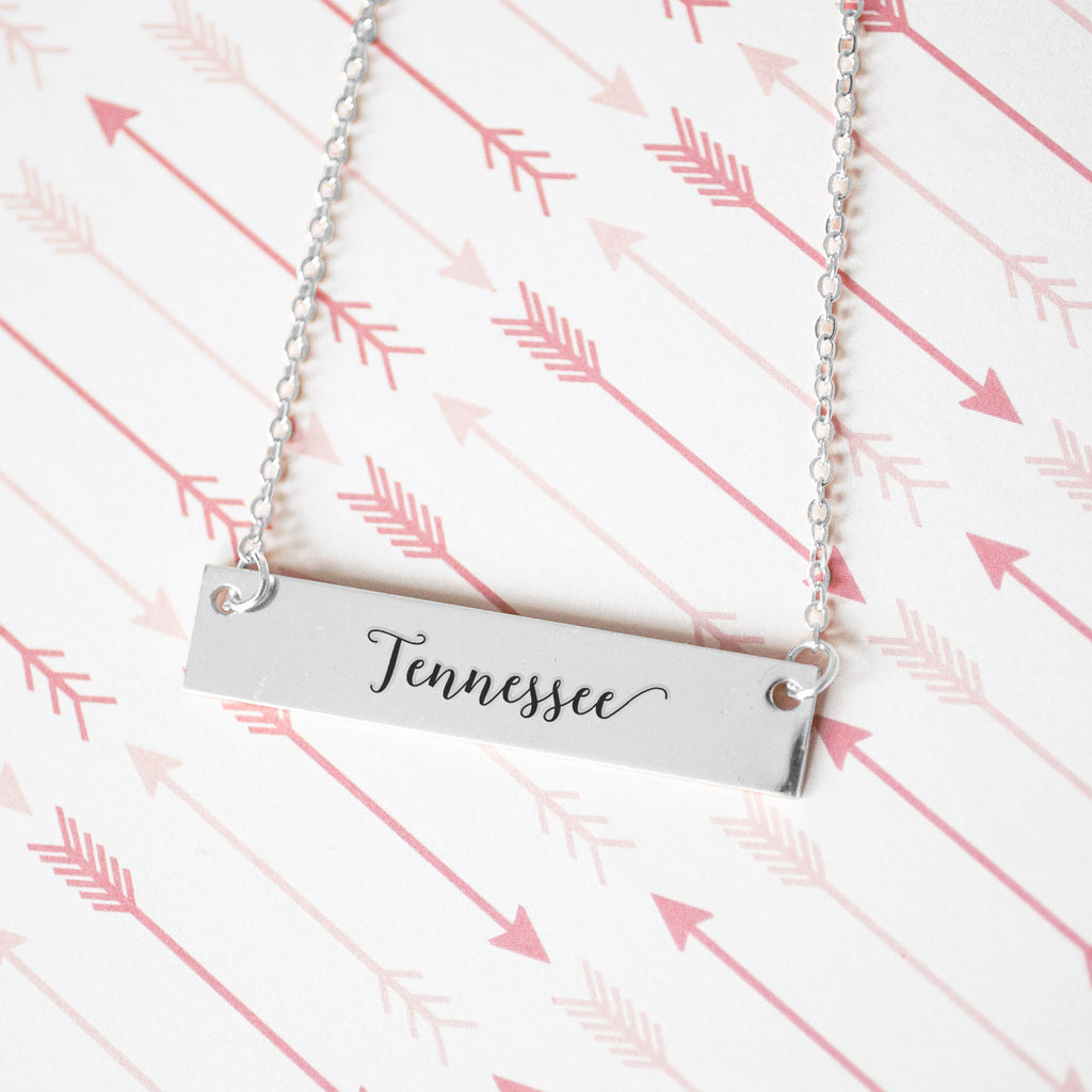Tennessee Gold / Silver Bar Necklace - pipercleo.com