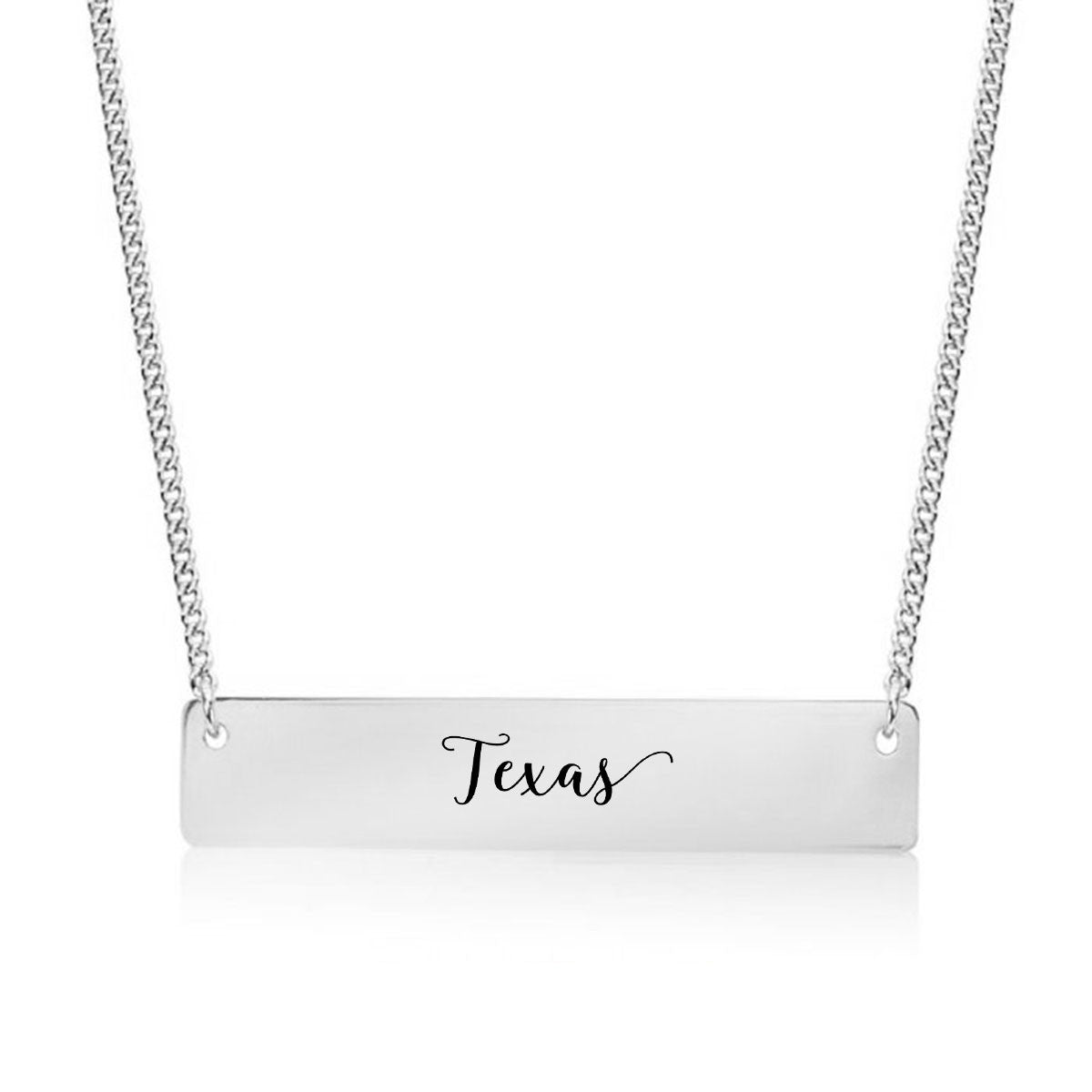 Texas Gold / Silver Bar Necklace - pipercleo.com
