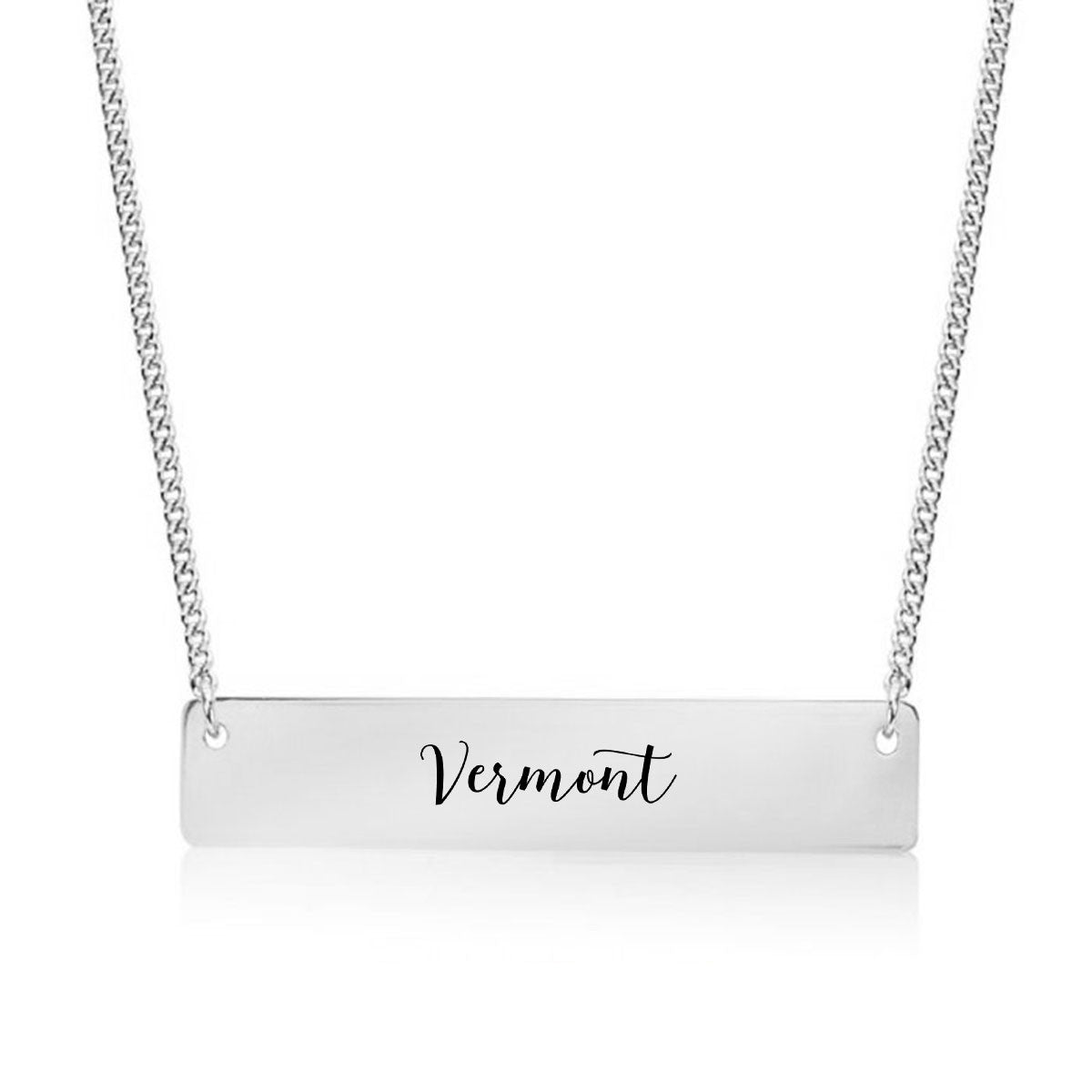 Vermont Gold / Silver Bar Necklace