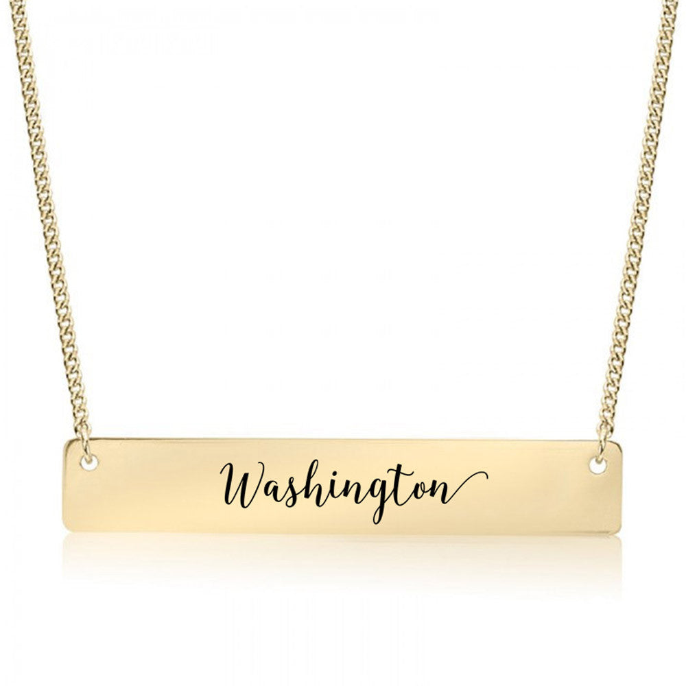 Washington Gold / Silver Bar Necklace