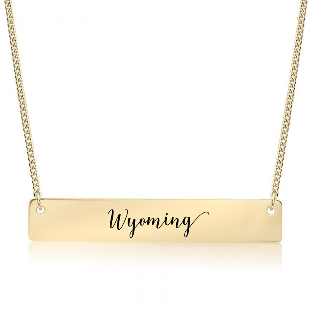 Wyoming Gold / Silver Bar Necklace