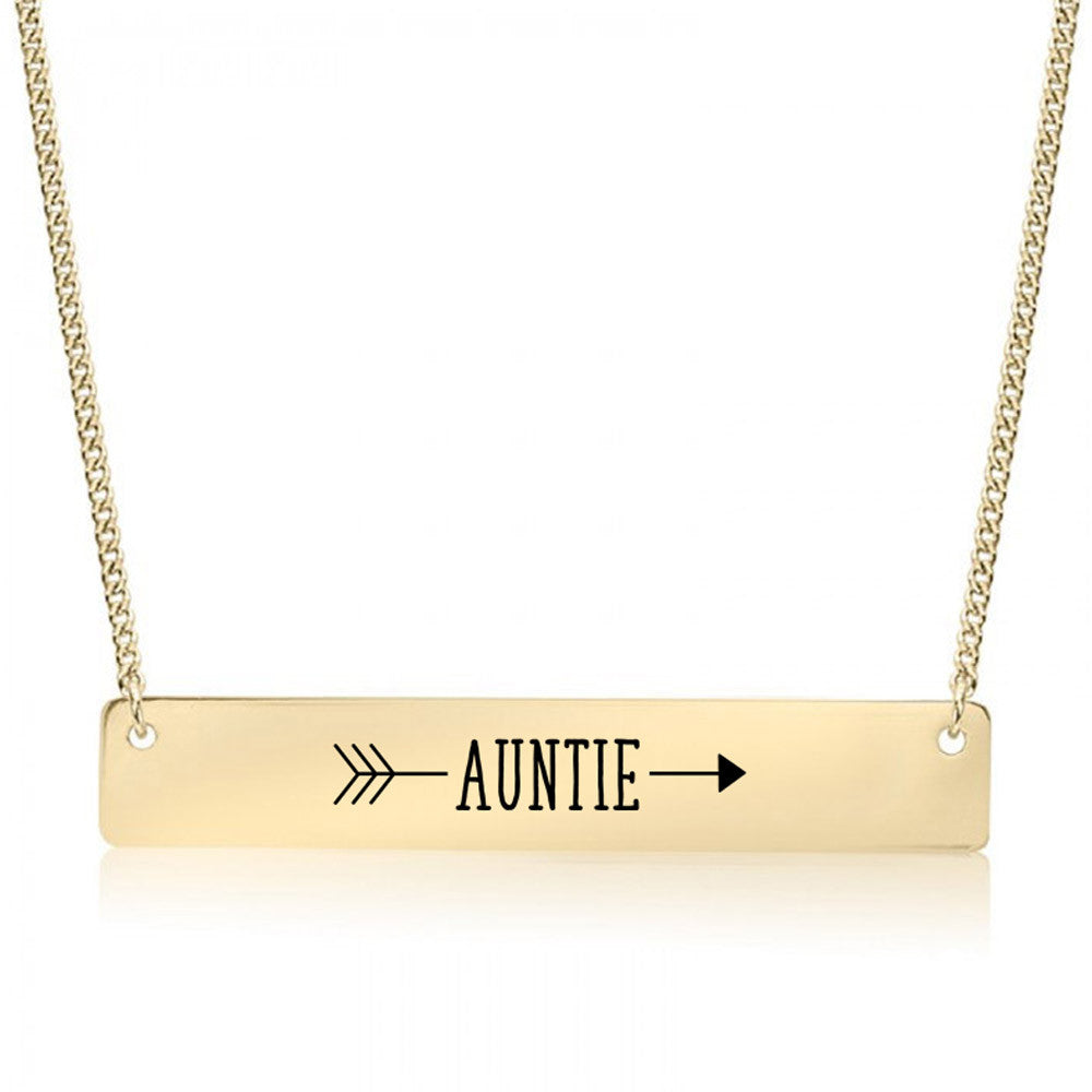 Auntie Arrow Gold / Silver Bar Necklace